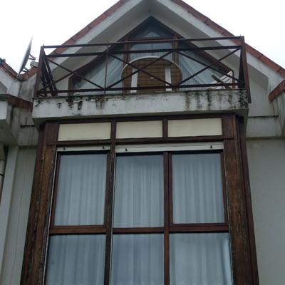 Terraza y fachada original (antes de rehabilitar)