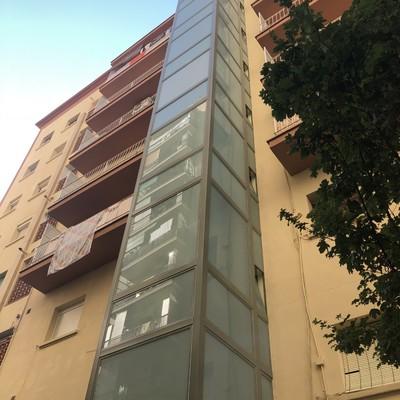 Estructura ascensor exterior