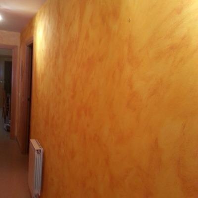 tierras florentinas en pared de pasillo..