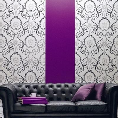 Ideas y fotos de paredes moradas para inspirarte habitissimo - Tipos de papel pintado ...