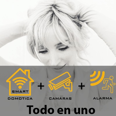 Alarma + cámaras + domótica todo en la misma aplicación