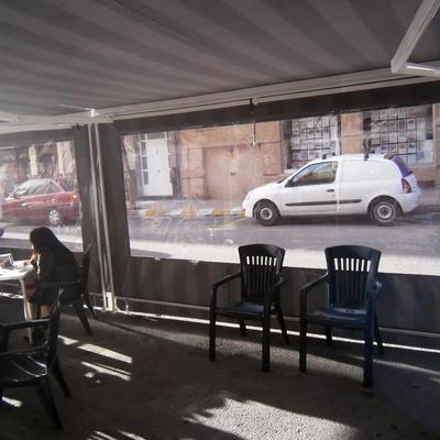 TOLDO INTERIOR CAFETERIA