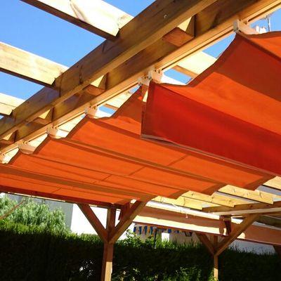Toldos correderos para estructuras de madera