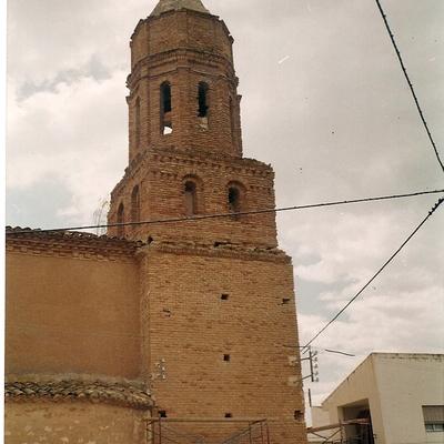 Torre de la iglesia antes de restaurar