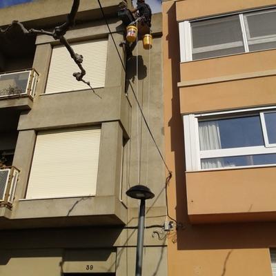 Reparacion en fachada de Alcover
