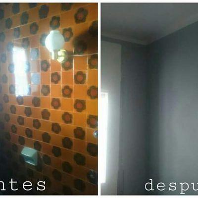 Esmaltado de antiguos azulejos