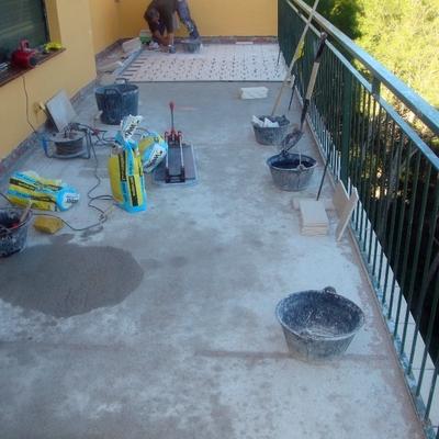 una terraza paso a paso