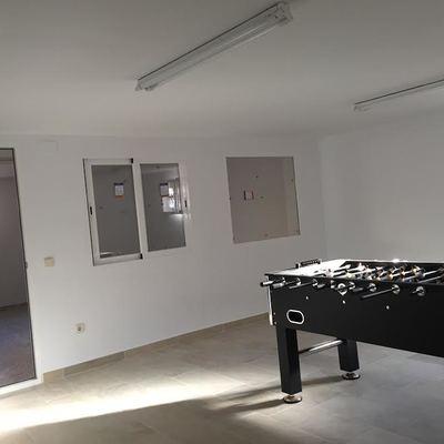Construcción de salón en un garaje