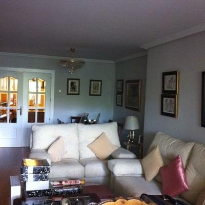 Vaciar piso de muebles, quitar gotele y pintar