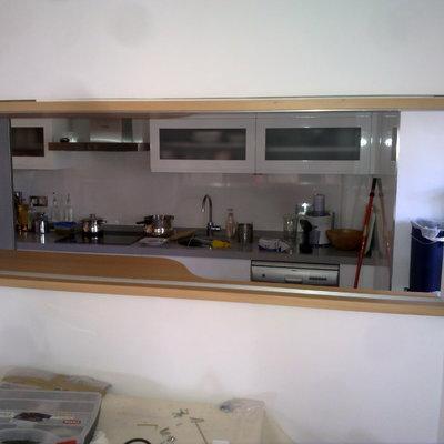 ventana de unión comedor-cocina