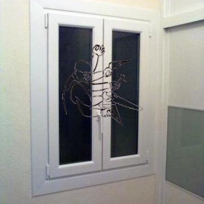 ventana pvc blanca
