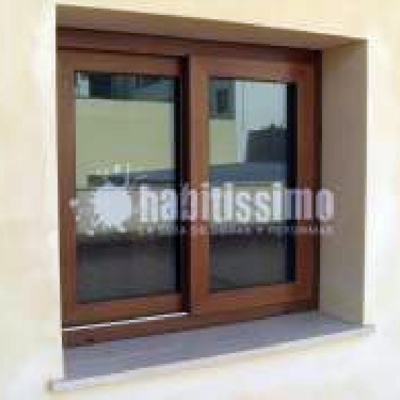 ventanal aluminio imitacion iroco