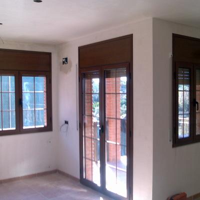 ventanas practicables color madera
