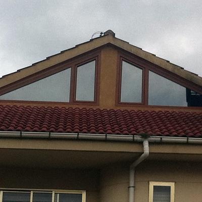 ventanas pvc roble dorado