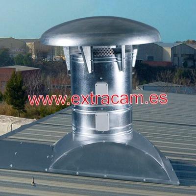 Ventiladores y extractores de tejado para uso industrial.