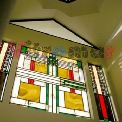 Vidriera Frank Lloyd Wright