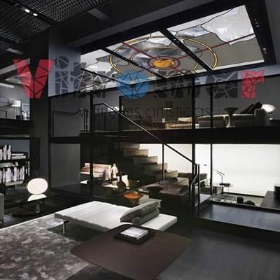 Vidriera techo loft