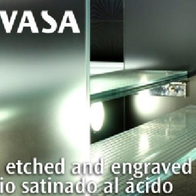 Vidrio satinado al ácido de SEVASA