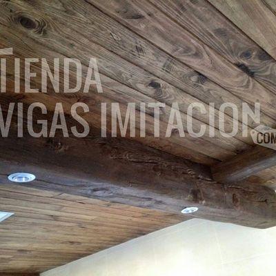 vigas imitacion madera