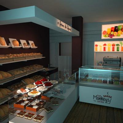 Infografía diseño puesto de panadería