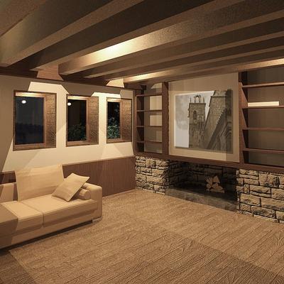 Interior casa rural