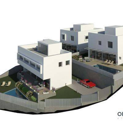 Visualización 3D exterior | Viviendas unifamiliares en Vigo