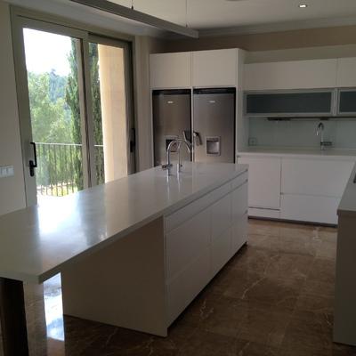 Vista de la cocina de la villa de lujo