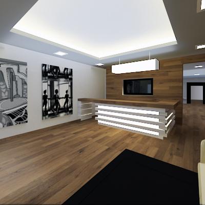 Proyecto 3D para sala de aaile, en Brasil.