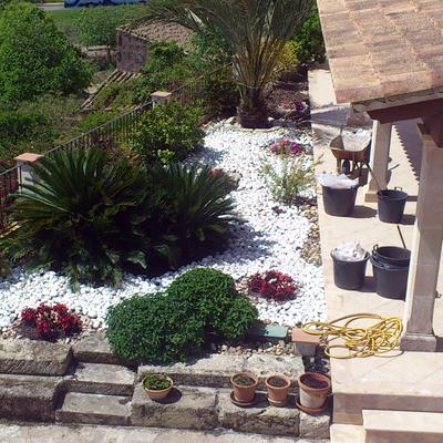 Vista desde altura de jardin en Sineu