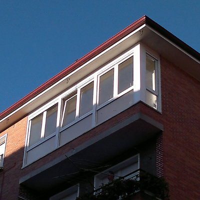 Vista exterior de cierre de terraza