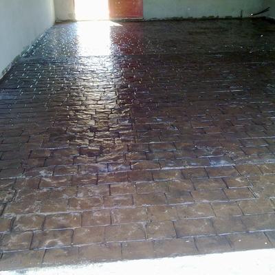 Vista general de suelo de hormigón Impreso