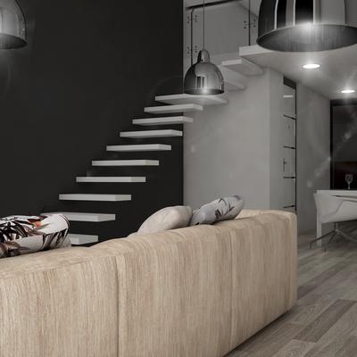 Render de reforma de piso