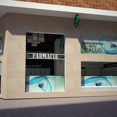 Reforma de farmacia en Zamora: Fachada