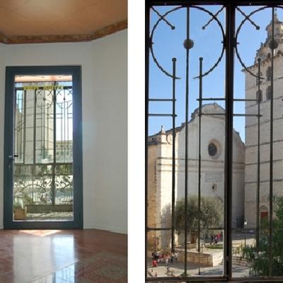 Vistes des del despatx: Santa Maria la Major d'Inca