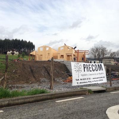 Vivienda madera CLT en construcción