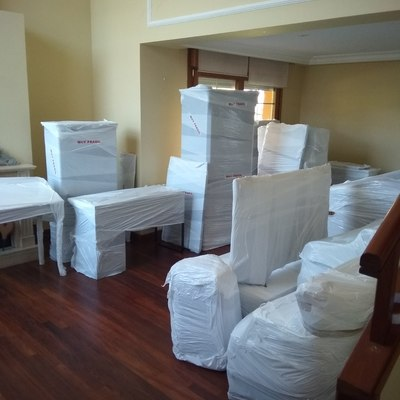 mobiliario embalado