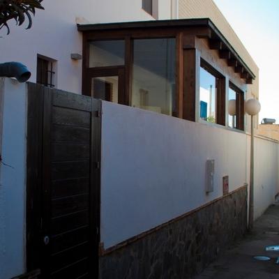 Vivienda unifamiliar en Berja (Almería). Fachada trasera estudio