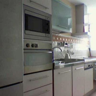 Vivienda unifamiliar en bloque sita en Sevilla. Cocina