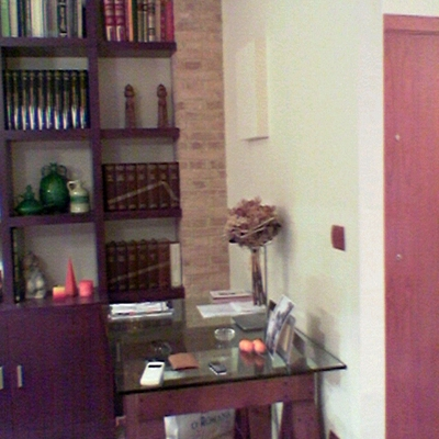 Vivienda unifamiliar en bloque sita en Sevilla. Salón