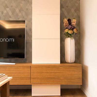Detalle mueble TV a medida