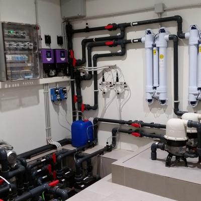 Instalación depuración y desinfección sala spa completamente automatizada