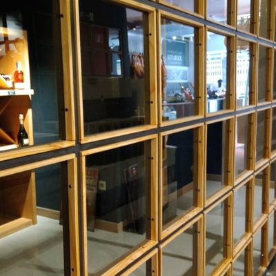 Mampara de vidrio/hierro