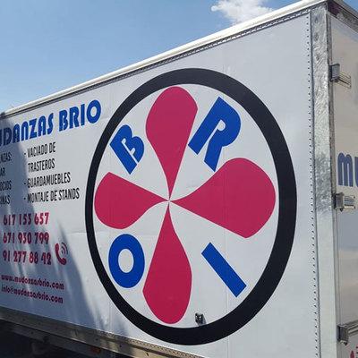 Camión Mudanzas Brio Rotulación