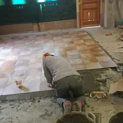 Colocación de azulejos