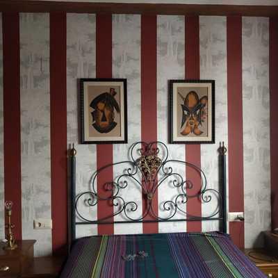 Dormitorio Papel Granate