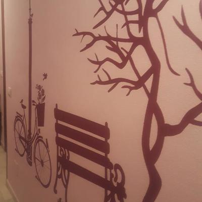 Mural en vivienda