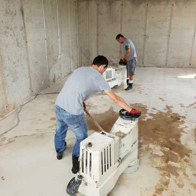 rebaje de pavimento de marmol