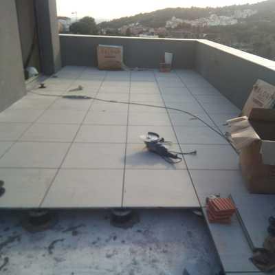 suelo en terraza