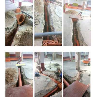 soterramiento de tubos de desague