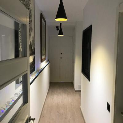 decoración, pintura, lámparas, iluminación